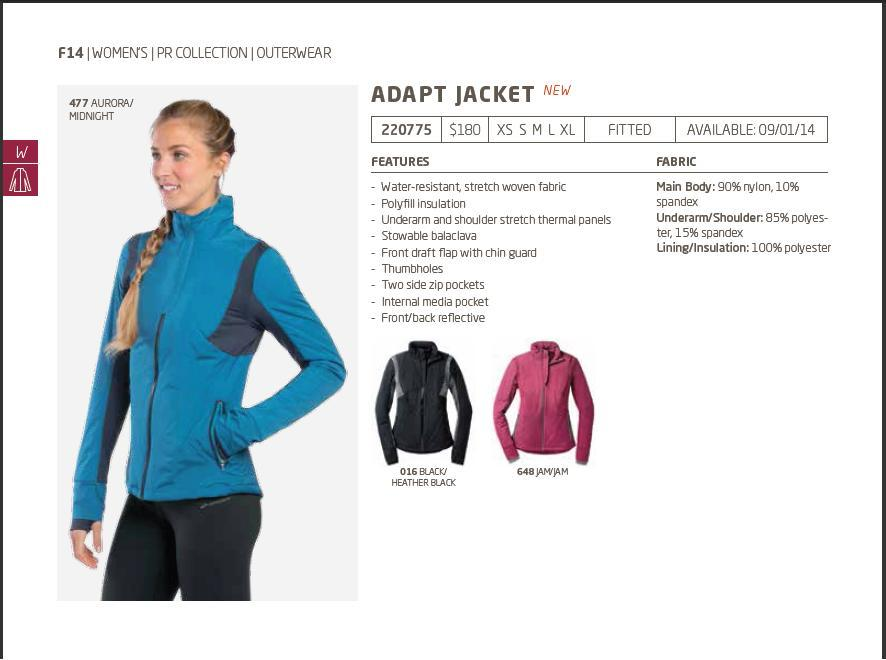 Brooks adapt jacket