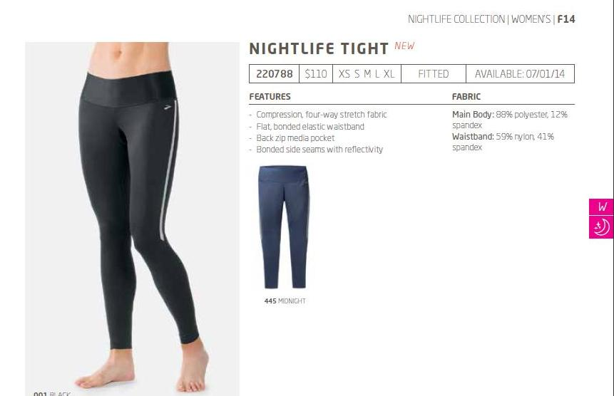 brooks nightlife tight