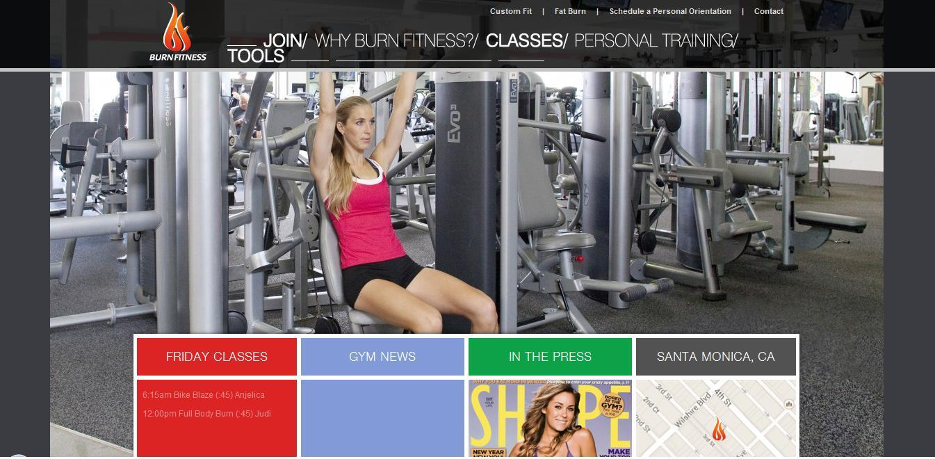 Burn Fitness Inside gym