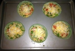 Pre oven muffin tins